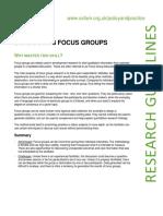Conducting Focus Groups