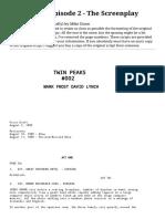 Twin Peaks Episode 2 Script