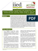 Influencing the Development and Integration of National Standard Climate Change Indicators into the Monitoring and Reporting Frameworks in Uganda