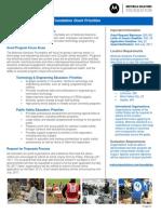 2017 Motorola Solutions Foundation Grant Program Priorities
