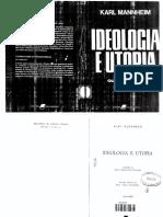 Mannheim, Karl. Ideologia e Utopia.