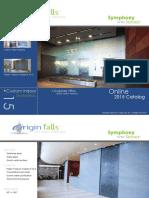 Origin Falls 2015 Water Feature Catalog