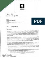 Oficio de Fiscal Ley de Jubileo