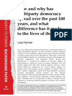 How and Why has Multiparty Democracy Spread Over the past 100 years, and What Difference has it Made to the Lives of the Poor?
