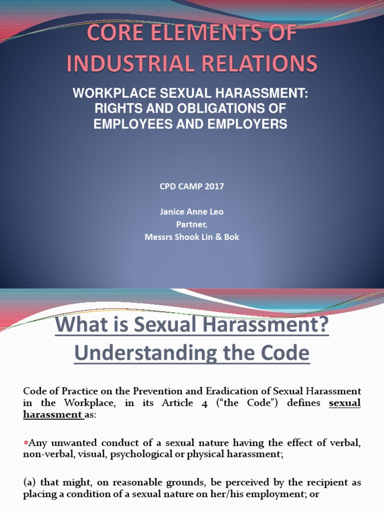 Elements Of Sexual Harassment
