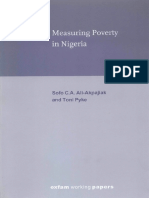 Measuring Poverty in Nigeria