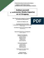 CulturaJuvenil juvenil y Educacion Media Superior en el Uruguay