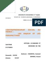 Lentrepreneuriat Social Les Defis