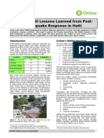 Urban WASH Lessons Learned from Post-Earthquake Response in Haiti