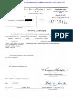 Criminal Complaint and Affidavit Against Steve Stockman