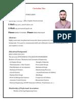 Curriculum Vitae of Yaser92