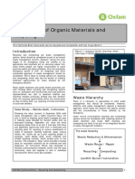 Composting of Organic Materials and Recycling