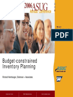 US Navy Budget-Constrained Inventory Planning by Richard Heimburger