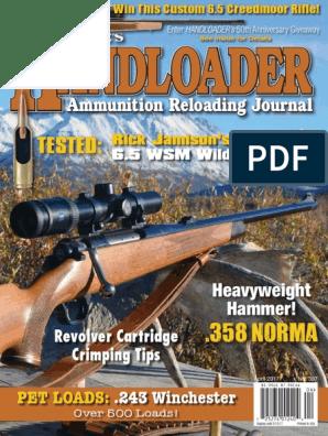 Handloader April-May 2017 | Cartridge (Firearms) | Revolver