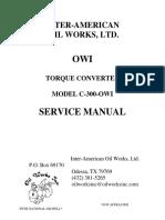 Torque Converter C-300 OWI - Service Manual