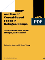 Acceptability and Use of Cereal-Based Foods in Refugee Camps