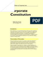 Law 05 Company Law 04 Corporate Constitution Notes 20170314 Parab