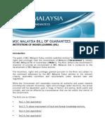 Msc Malaysia Bill of Guarantees -Ihl Booklet v.1