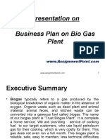 Business Plan on Bio Gas Plant