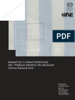 Magnitud y Características Del Trabajo Infantil en Uruguay