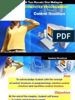 Chap 5 Control Structures