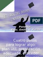 Rol Del Docente Universitario