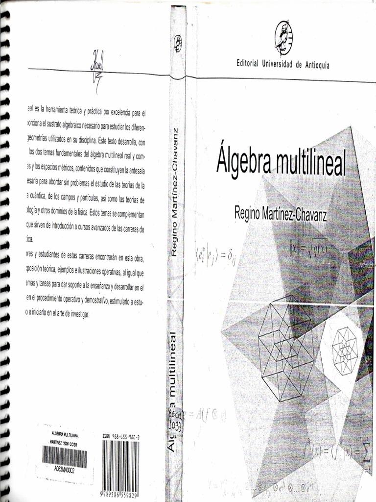 ALGEBRA MULTILINEAL REGINO MARTINEZ PDF