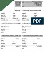 Exercices 1 Verbes en Er Présent – Ce1 – Conjugaison – Exercices Corrigés – Cycle 2