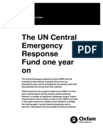 The UN Central Emergency Response Fund One Year On