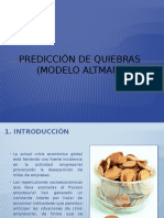 Prediccion de Quiebras (Modelo Altman)