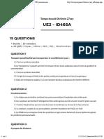qcmPACES.fr UE2- Entrainement qcm concours PACES première année de médecine