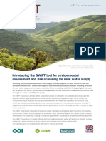 Introducing the SWIFT Tool for Environmental Assessment and Risk Screening for Rural Water Supply