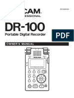 Tascam Dr-100 Manual