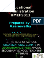 Presentation SLIDE Educational Administration