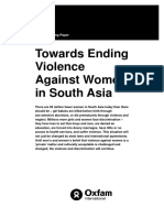 Towards Ending Violence Against Women in South Asia
