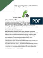 Your Carbon Footprint - Colegiul Tehnic Ana Aslan