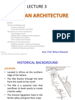 LECTURE 3 Egyptian Architecture