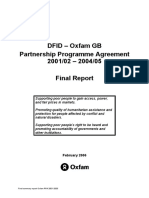 DFID and Oxfam GB Partnership Programme Agreement 2001/02 – 2004/05