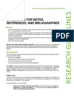 Style Guide for Notes, References, and Bibliographies