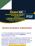 1°UNIDAD PROCEDIMIENTOS DE LA MANTENCION ELECTROMECANICA 2017