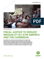 Fiscal Justice to Reduce Inequality in Latin America and the Caribbean