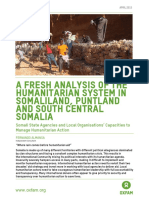 A Fresh Analysis of the Humanitarian System in Somaliland, Puntland and South Central Somalia