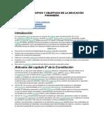 Fines, Principios y Objetivos de La Educación Panameña