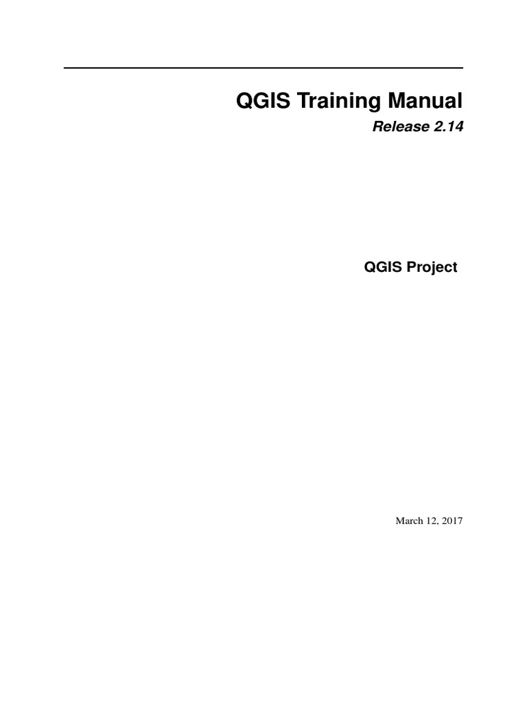 QGIS 2 14 QGISTrainingManual En | Geographic Information System