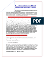 El Mundo de Los Personal Trainer Mitos Y Consejos Sobre El Entrenamiento Personal.