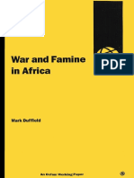 War and Famine in Africa