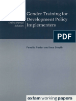 Gender Training for Development Policy Implementers