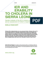 Gender and Vulnerability to Cholera in Sierra Leone