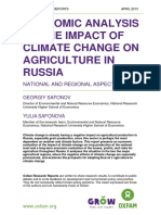 Economic Analysis of the Impact of Climate Change on Agriculture in Russia