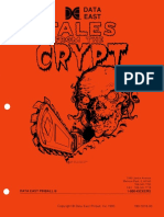 Data East 1993 Tales From the Crypt Manual